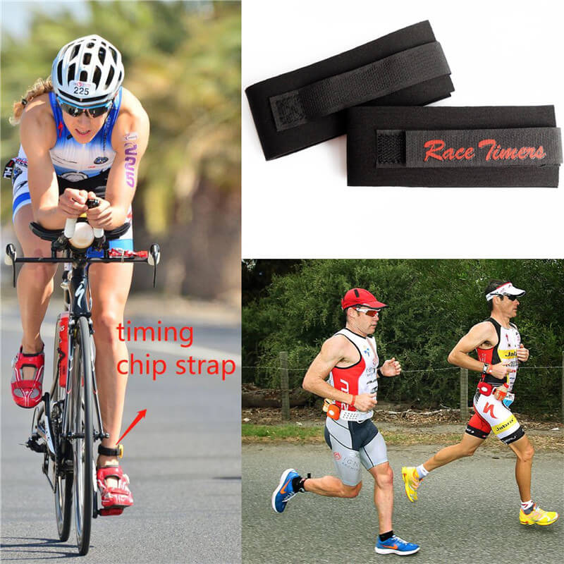 Race Timing Chip Straps Neoprene Race Chip Band Ankle Strap Black