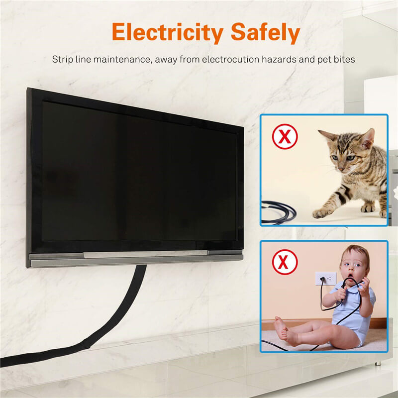 Neoprene Cord Wire Organizer Cover Sleeve For Desk TV Computer Home Office